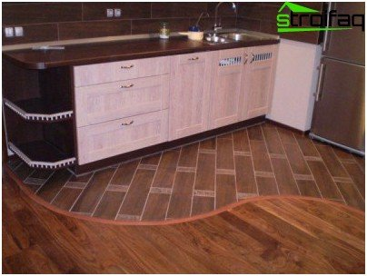 Floor tiles and laminate together