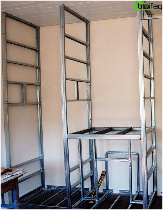 Wardrobe of plasterboard with their hands: easy, economical
