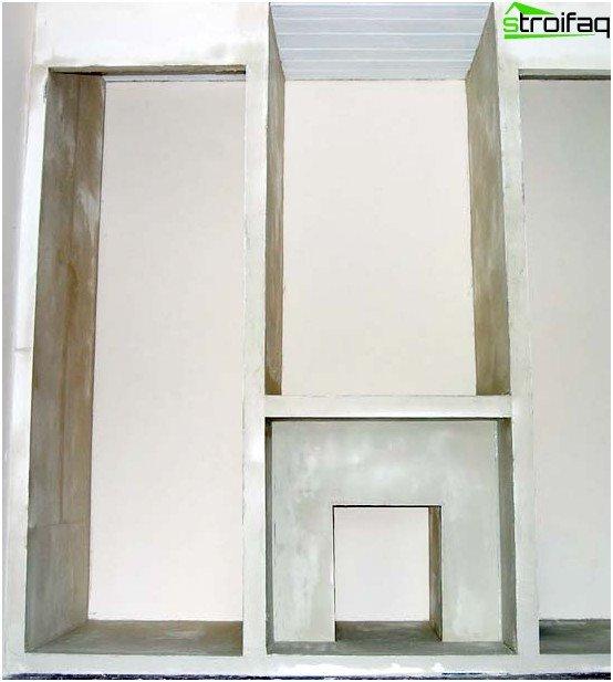 Casing frame plasterboard