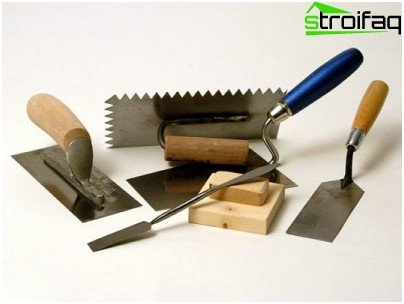 Tools for wall plaster