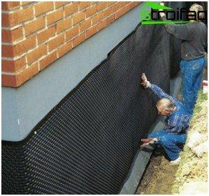 Self-adhesive waterproofing the basement