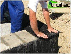 Roll basement waterproofing