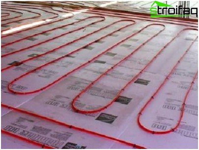 Installation of electric underfloor heating based on the heating cable