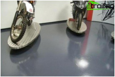 Painted and dust-free cement floor