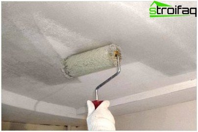 Lime whitewash the ceiling
