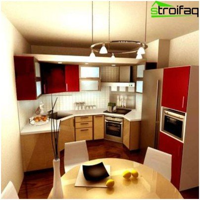 Lighting a small kitchen