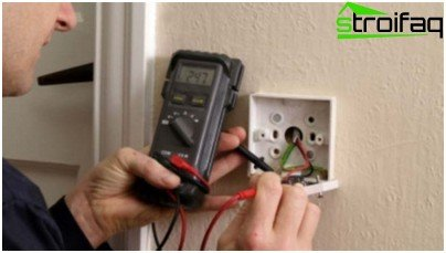 Measuring the resistance of electrical wiring insulation