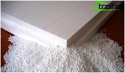boards made of foam polystyrene