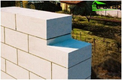The cut foam concrete blocks