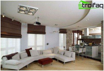 Proper kitchen lighting - the living room