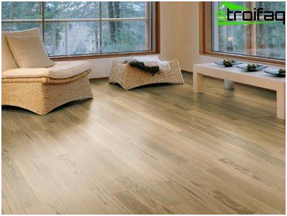 Parquet board from oak - presentable floor covering