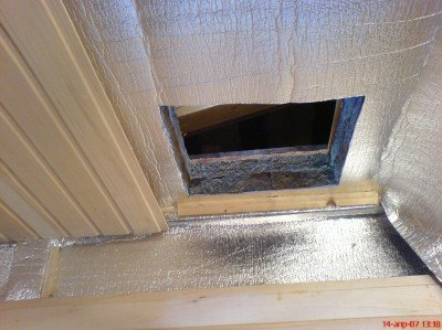 Stratified form of ceiling insulation bath