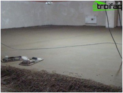 The rough floor - concrete screed
