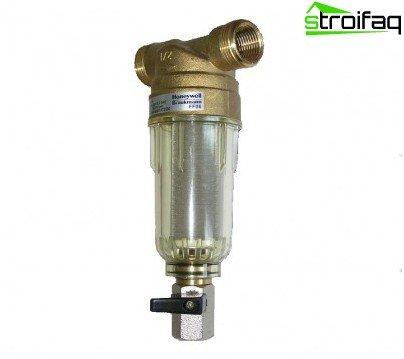 Fine filter water treatment