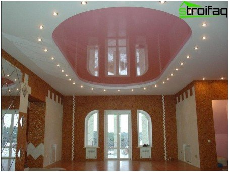 Stretch ceiling oval