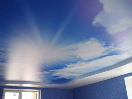 "with ""heavenly"" Stretch ceiling print - perfect for nature lovers"