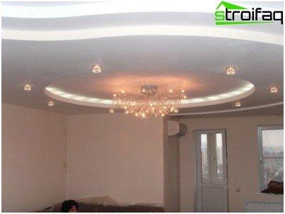 Multilevel ceiling plasterboard