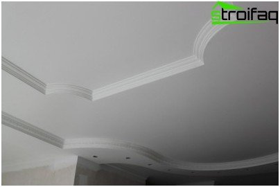 The multilevel plasterboard in antique style
