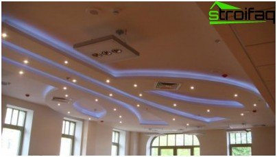 Multi-level living room ceiling