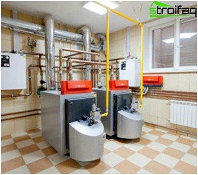 Combined heating boiler