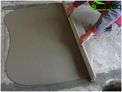Concrete floor screed