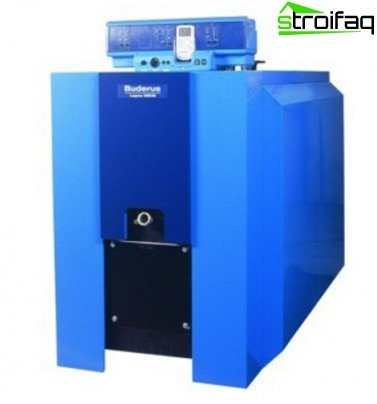 Combined household heating boiler