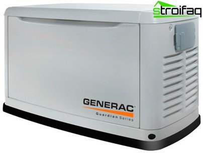 A gas generator for the garden