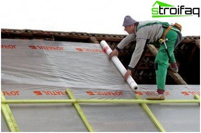 Laying waterproofing film