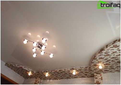 White glossy stretch ceiling: №3 photo
