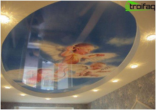 Glossy ceilings with photo printing
