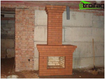 Svezhevylozhenny fireplace - the result of