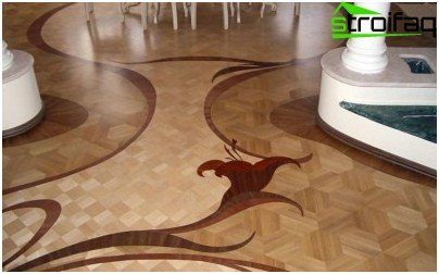 Modern flooring - decorative parquet