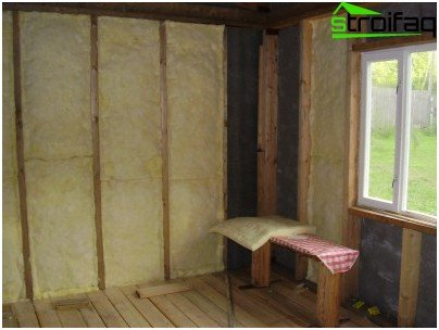 Thermal insulation of walls of the house