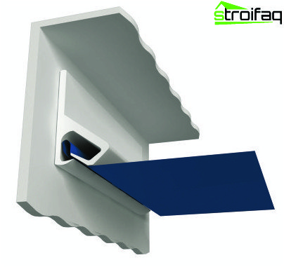 Mounting tension ceiling tissue by means of clips