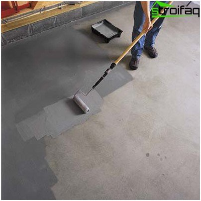 Concrete staining process