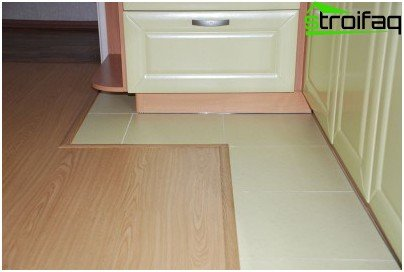 Features of laying laminate flooring in the kitchen