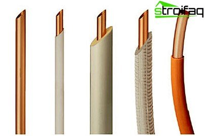 Copper pipes for heating in domestic conditions