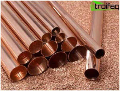 Copper tubes for electrical wiring