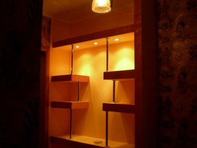 Shelves made of plasterboard - your individuality!