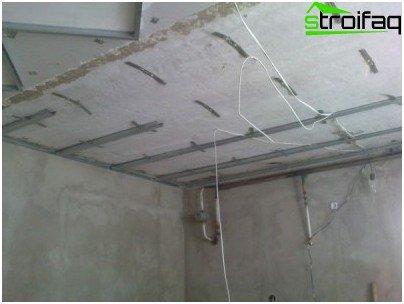 Mount frame for a false ceiling
