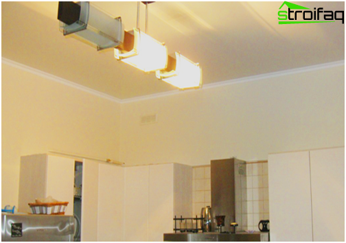 Stretch ceilings in the kitchen: №6 photo
