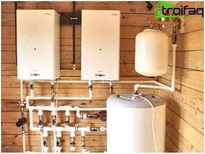 Cascade wall boilers