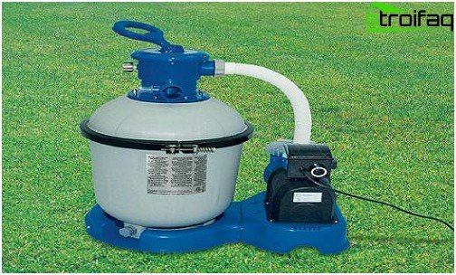 Sand filter for cleaning