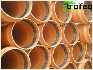 Pipes for external sewage