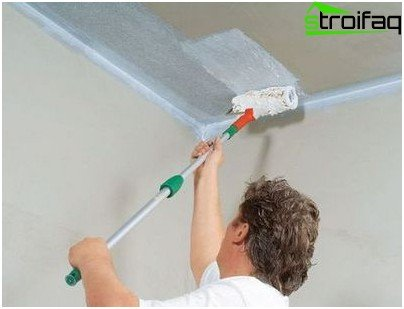 Whitewashing the ceiling chalk solution