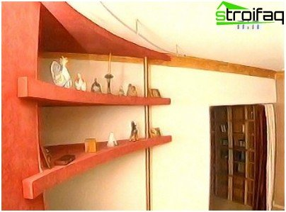 The shelves of plasterboard photo