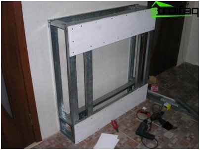 Portal for the heater of plasterboard