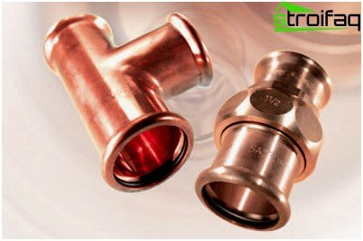 Press fittings for copper pipes