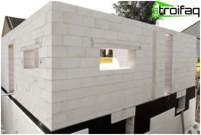 Foam concrete blocks as a building material