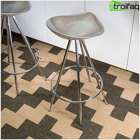 Combining cork floor